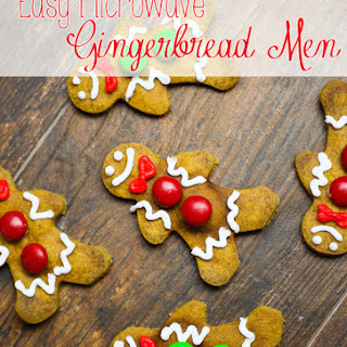 Easy Microwave Gingerbread Cookies