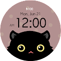 Black Cat - Watch face icon
