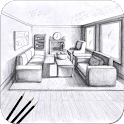 Pencil Drawing Perspective - 120 Best Drawing icon