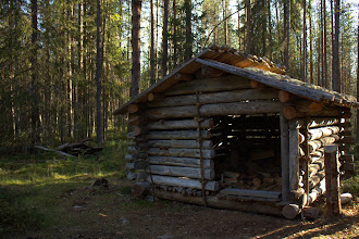 Photo: (rebuilt) traditional cabin
