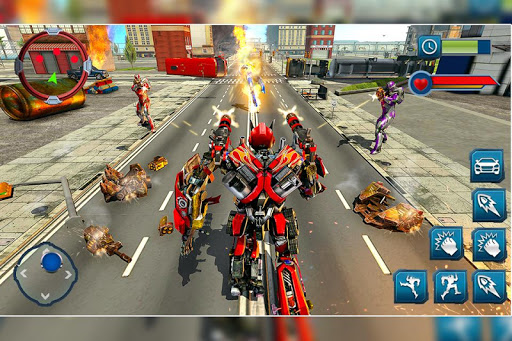 Ramp Car Robot Transforming Game: Robot Car Games screenshots 2