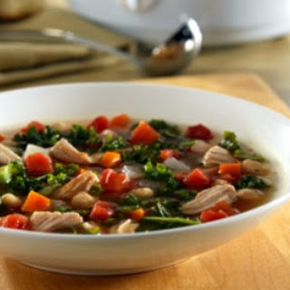 Crockpot Pork Rib Kale Soup