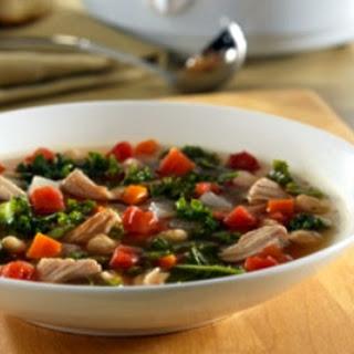 Crockpot Pork Rib Kale Soup.