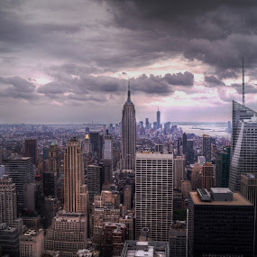 New York by Jade Newman - City,  Street & Park  Skylines ( skyline, hdr, buildings, empire state building, manhattan, nyc, new york, view )