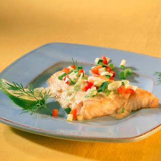 Fischfilet in Gemüse-Senf-Sauce