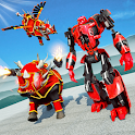 Flying Rhino Robot Transform: Robot War Games icon