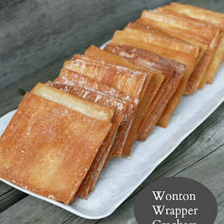 Wonton Wrapper Crackers.