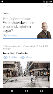Svenska Dagbladet- screenshot thumbnail