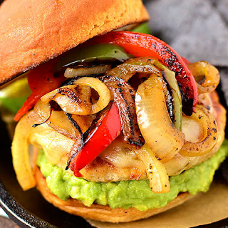 Chicken Fajita Cheeseburgers
