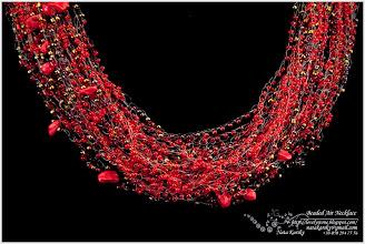 Photo: Beaded Air Necklace - Повітряне бісерне намисто