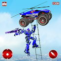 Police Transmute Robot Monster Truck icon
