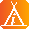 Info Camp - camping rest area icon
