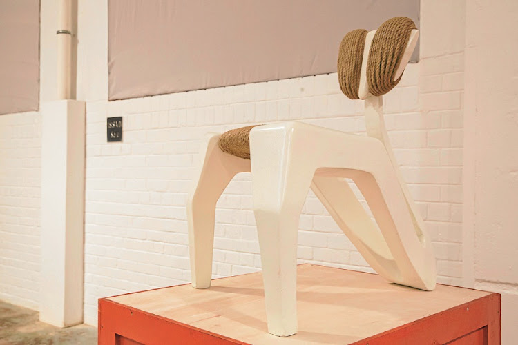 Said Issadi's Mante chair in resin, hemp rope and foam. Picture: Supplied