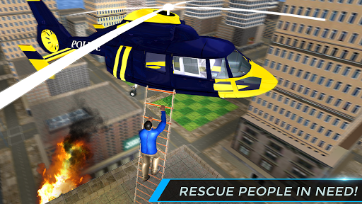Real City Police Helicopter Games: Rescue Missions 4.0 screenshots 3