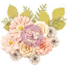 Prima Spring Farmhouse Mulberry Paper Flowers 15/Pkg - Everyday Beauty UTGÅENDE