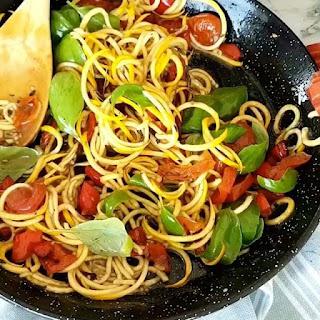 Zucchini Noodle Pasta Salad.