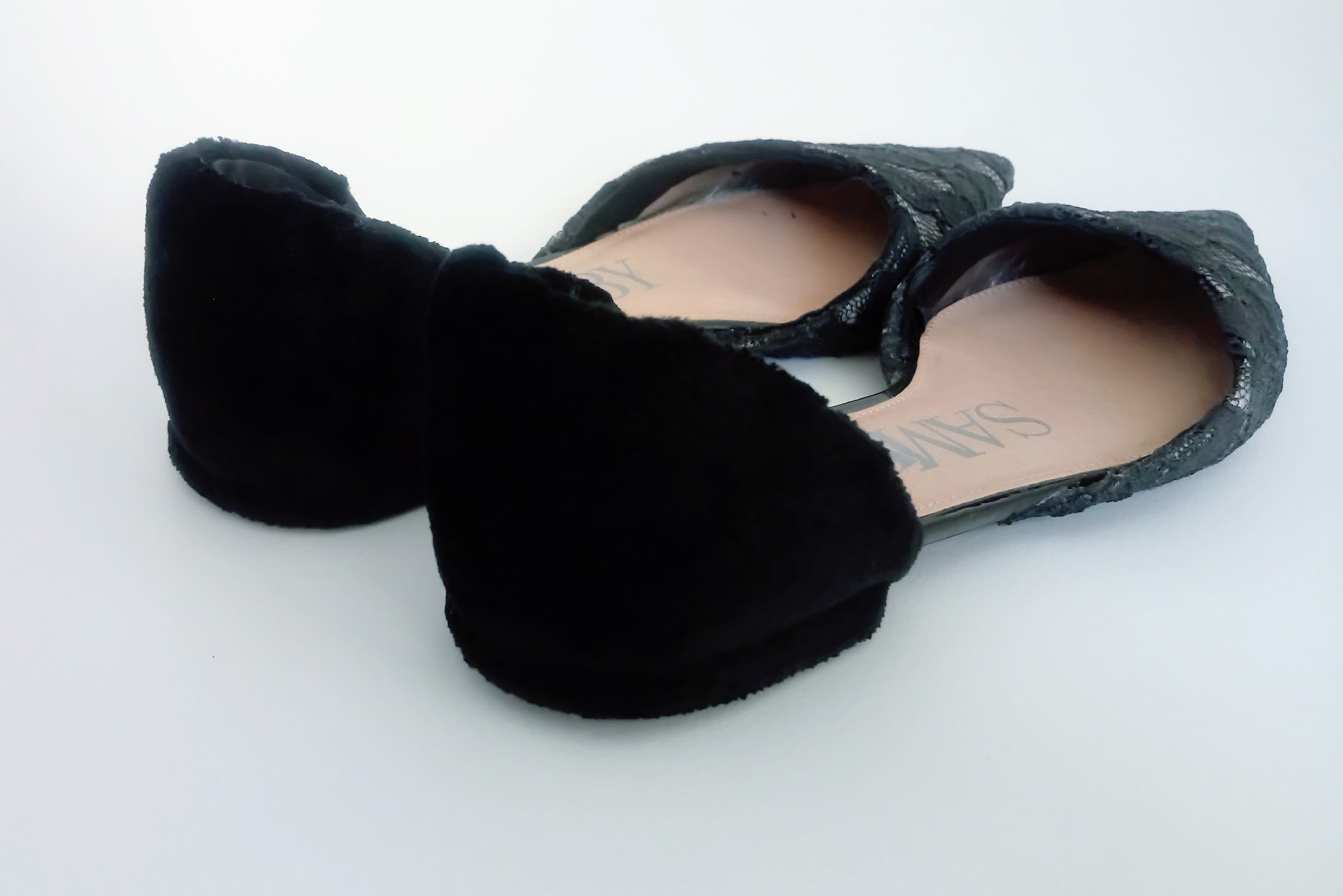 Lace Flats with Velvet Detail - DIY Fashion project   fafafoom.com