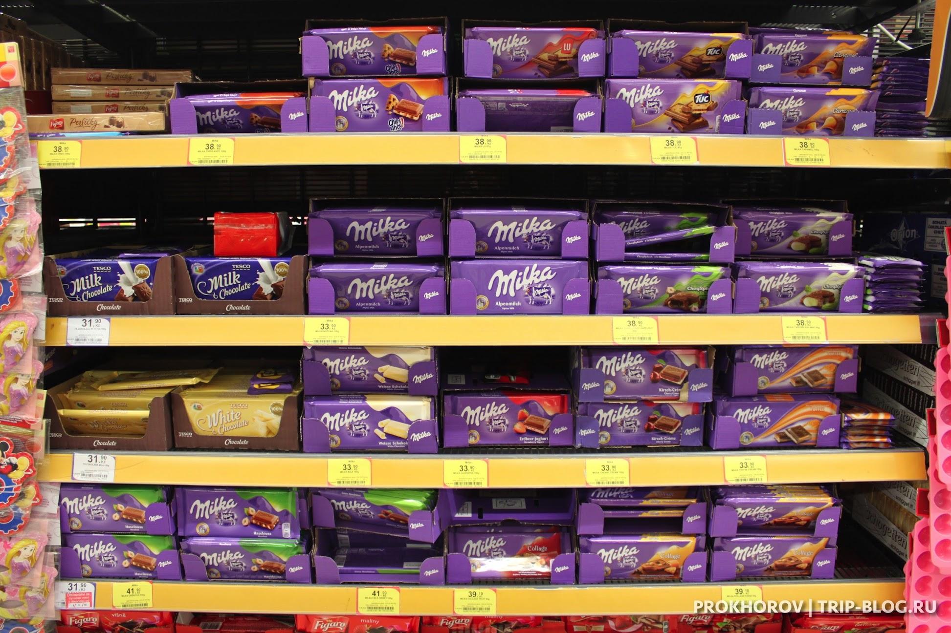 Шоколад Прага Tesco