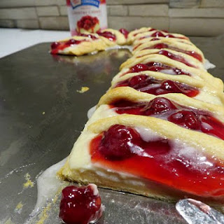 Candy Cane Fruit and Cream Cheese Danish