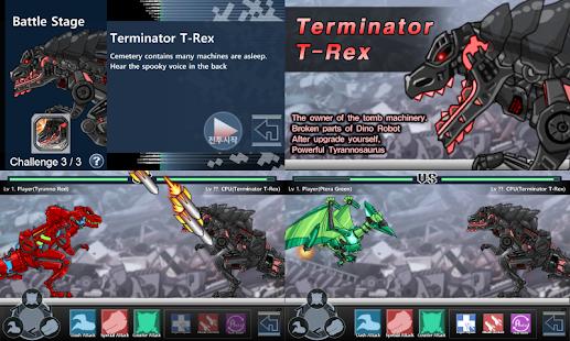 Dino Robot Battle Field - náhled