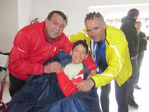 Photo: Con Luis, en el polideportivo de Arzúa.