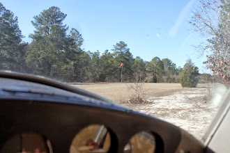 Photo: Take off about 12:20 from up in the north east corner with the wing out over the dirt road.