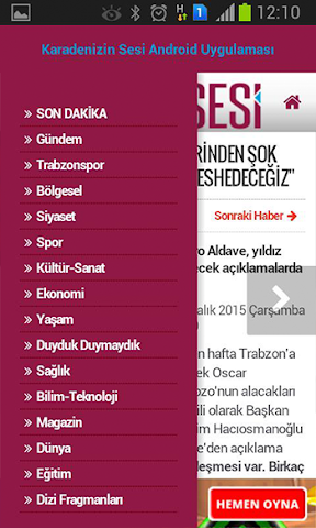 android Karadenizin Sesi Screenshot 3