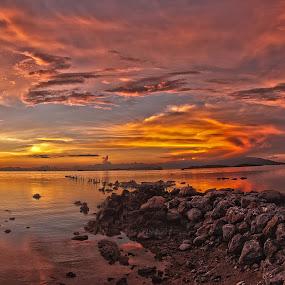 Sunset by Richard ten Brinke - Landscapes Sunsets & Sunrises ( hdr, koh samui, sunset, thailand, pier,  )