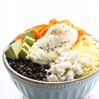 Lentil Spaghetti Squash Breakfast Bowl Recipe