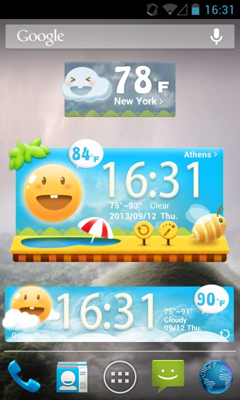 Скриншот Cute Garden GO Weather Widget