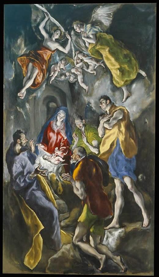 Δομήνικος Θεοτοκόπουλος (El Greco), H προσκύνησις των ποιμένων. 1612-14. Mουσείο Prado. Μαδρίτη.jpg