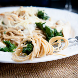 Creamy Chicken and Kale Alfredo.