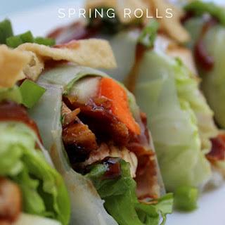 Barbecue Chicken Spring Rolls.