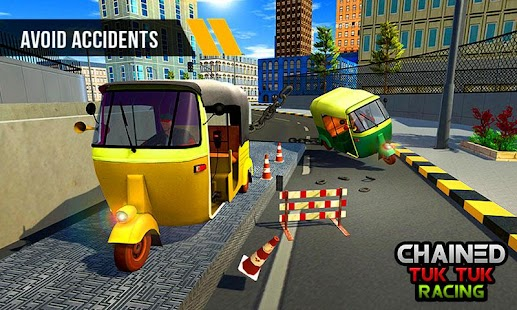 Chained Tuk Tuk 3D-Real Stunts Racing Tracks Rival - náhled