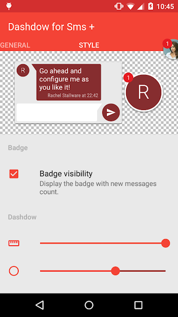 Dashdow SMS Plus - screenshot