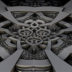 Metal beauty by Linda Czerwinski-Scott - Illustration Abstract & Patterns ( abstrait, metal, fractal, design )