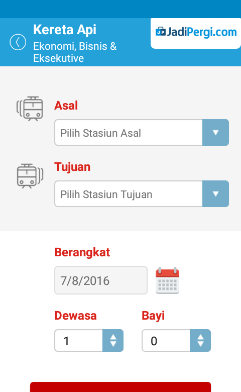 JadiPergi.com Mobile- screenshot