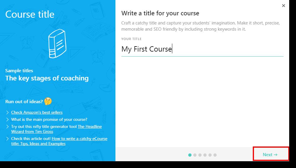 course title Build an Online Course