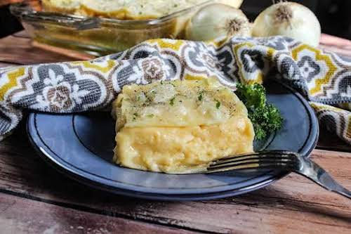 "Pierogi Casserole""We love pierogis and this casserole is a modern rendition of..."