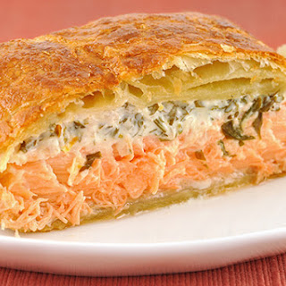 Vegetables With Salmon En Croute Recipes.
