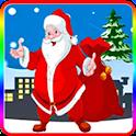 super santa gift bubble icon