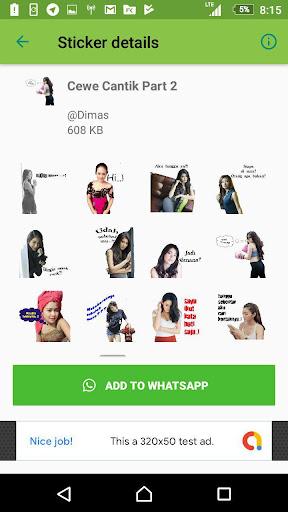 Sticker Cewe Cantik Lucu For Whatsapp Apps On Google Play