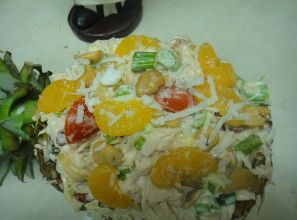 Take a bowl and put mayonaise, lemon juice, and sour cream and mix together....