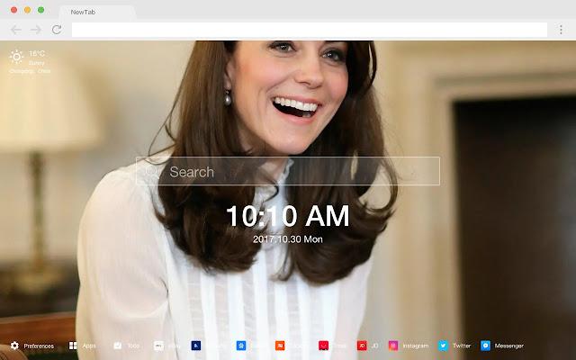Kate Middleton HD New Tab Princess Theme