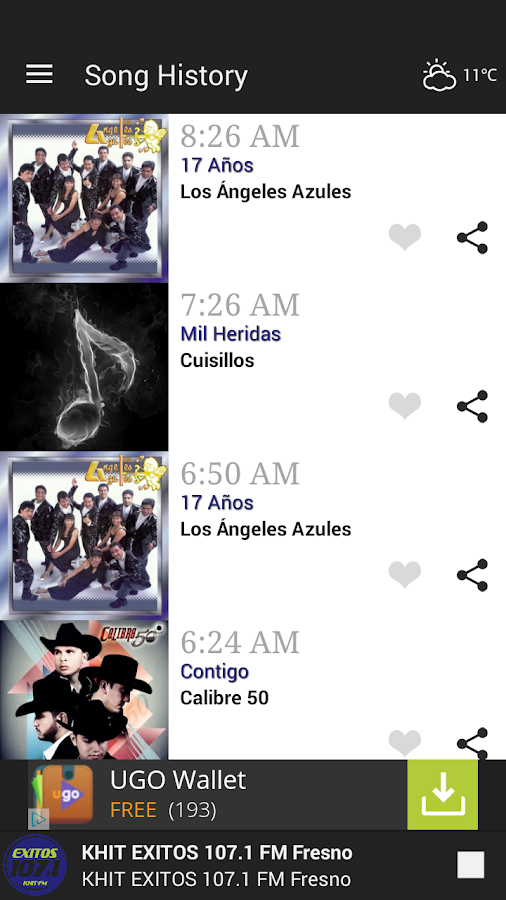 KHIT EXITOS 107.1 Fresno- screenshot