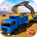 Heavy Excavator Crane: Construction City Truck 3D icon