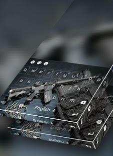 Submachine Gun Keyboard Themes - náhled
