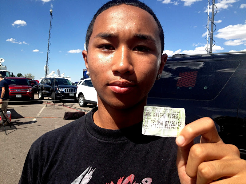 Photo: Chayyiel Jackson was in the front row of theatre 9 during the shooting in Aurora, Colorado.