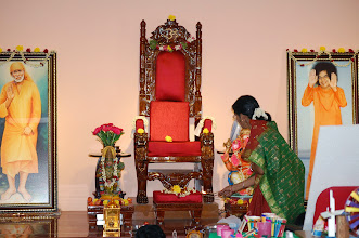 Photo: Mandali Guru offering Managala Arathi to our Bhagawan