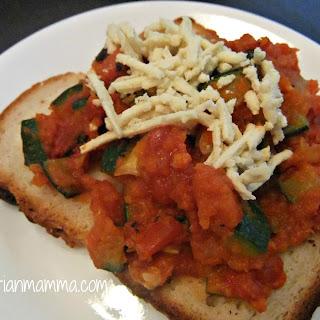 Open Face Zucchini Grinder – #gluten free